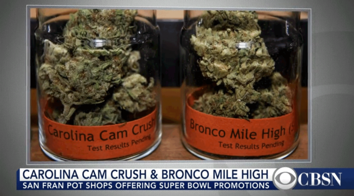 San Francisco shops sell Super Bowl-themed pot