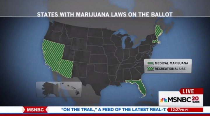 Legal Marijuana on Five Ballots in November