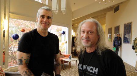 Henry Rollins, Alex Rogers, and Sen. Floyd Prozansky at Oregon Marijuana Business Conference, Ashland, Oregon 2017
